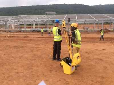 17th September 2014 Dodowa ground works and steelwork