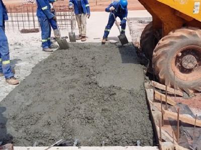 22nd January 2016 Kumawu Hospital Concrete Pour