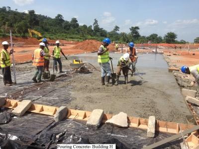 13th May 2015 Kumawu Hospital Pouring Concrete Base