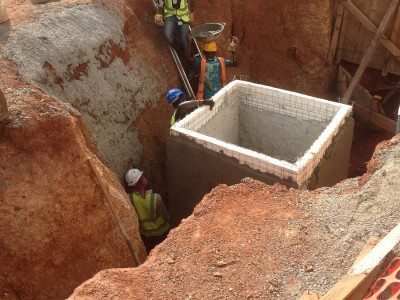 5th May 2015 Kumawu Hospital Constructing Manholes
