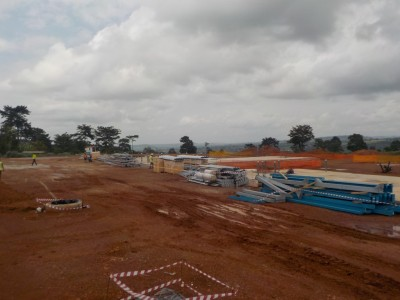 30th June 2015 Kumawu Hospital Steelwork Being Delivered