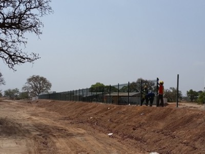 11th March 2016 Garu Hospital Fencing Installation