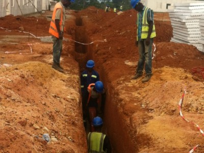 16th September 2015 Abetifi Hospital Sewerage Lines