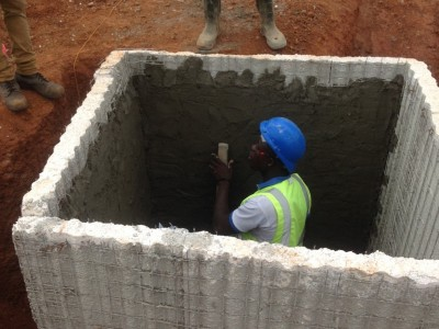28th September 2015 Abetifi Hospital Manhole Plastering