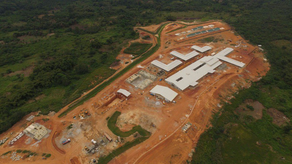 8th September 2015 Fomena Hospital Aerial Photo