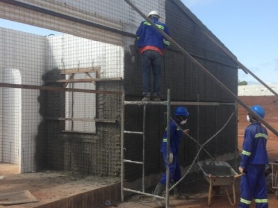14th October 2015 Abetifi Hospital Concrete Spraying Walls