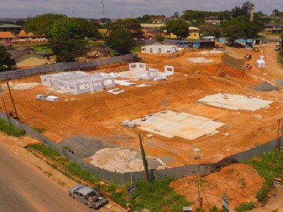 6th November 2015 Takoradi European Hospital Aerial View