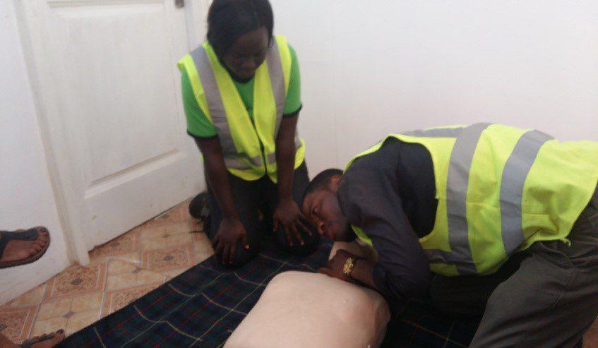 Takoradi First Aid Training Practical Testing 2 - October 2015
