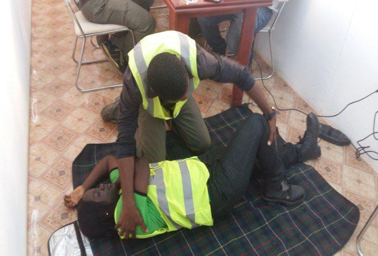 Takoradi First Aid Training Practical Testing - October 2015
