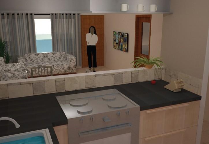 Takoradi Housing Kitchen and Living Area