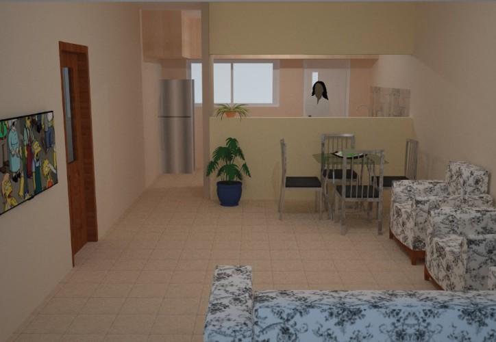 Takoradi Housing Living Area and Kitchen