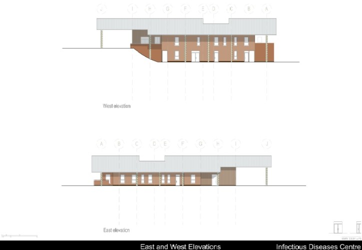 IDC East and West Elevations