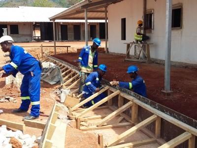 5th March 2016 Kumawu Hospital Ward Formwork
